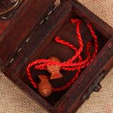 K112 年年有大鱼红绳手链批发 吉祥开运手链 本命年红绳一件代发