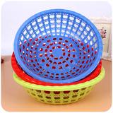 G067直径25cm高7cm塑料塑胶厨房蔬菜蓝一元店货源地摊日用百货
